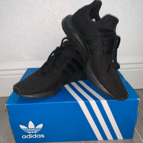 Black Adidas Swift Run Shoes Youth